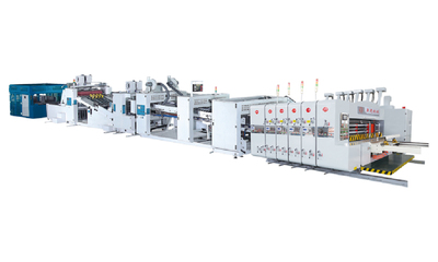 Vacuum transfer high speed automatic flexo printer slotter die-cutter&folder gluer strapping product